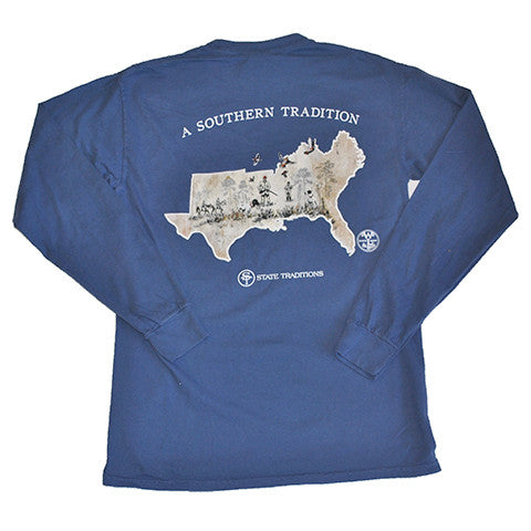 Southern Flight Long Sleeve T-Shirt Midnight