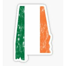 Alabama Irish Sticker
