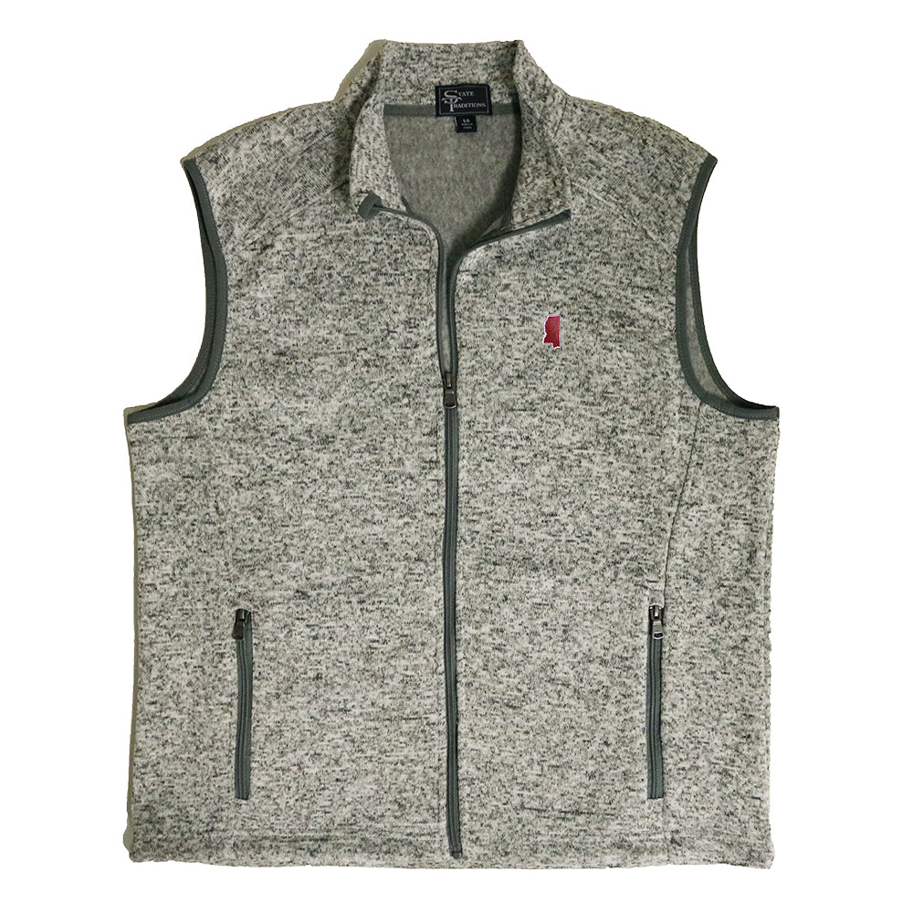 Mississippi Starkville Gameday Heather Sweater Vest