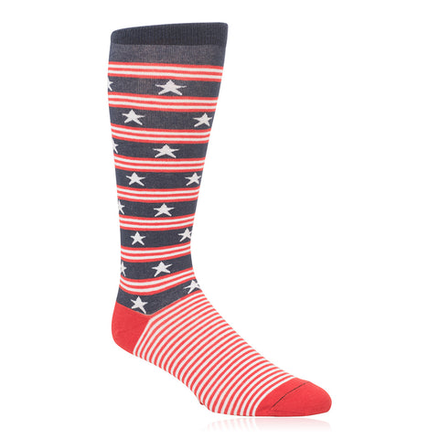 State Traditions Stars and Bars American Flag Pattern Socks by JL The Brand