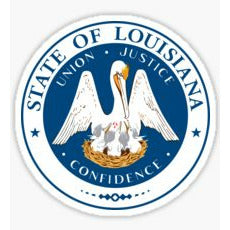 Louisiana State Seal Sticker
