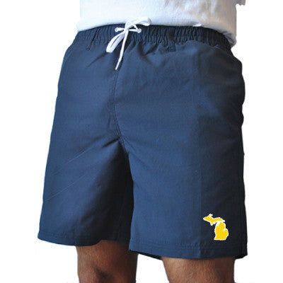 Michigan Ann Arbor Gameday Swimwear Navy