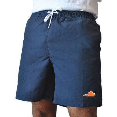 Virginia Charlottesville Gameday Swimwear Navy