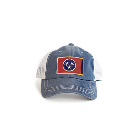 Tennessee Flag Trucker Hat Navy