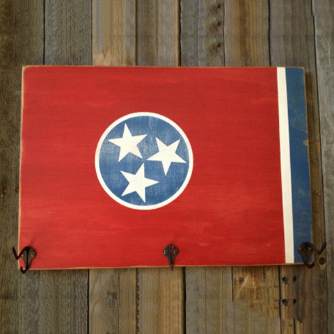 Tennessee Flag Hat Rack