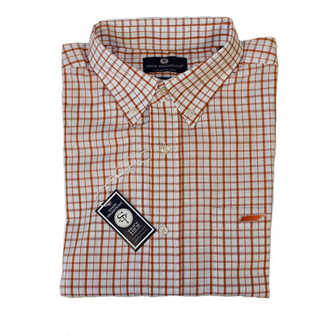 Tennessee Knoxville Gameday Tattersall Long Sleeve Shirt Orange