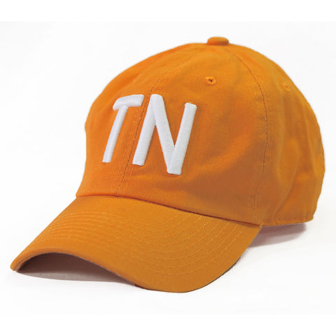 "Tennessee ""TN"" State Letter Acronym Hat Orange"