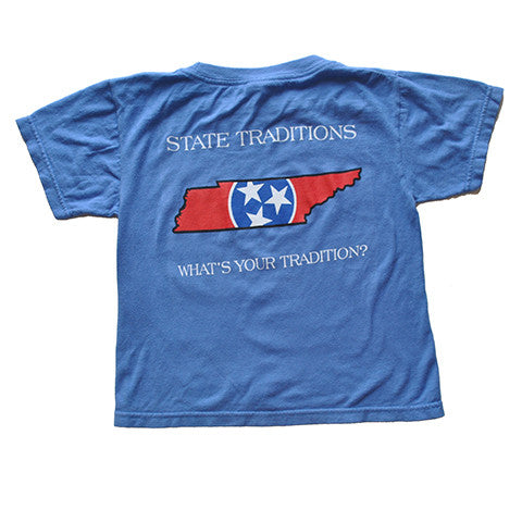 Tennessee Traditional Youth T-Shirt Blue