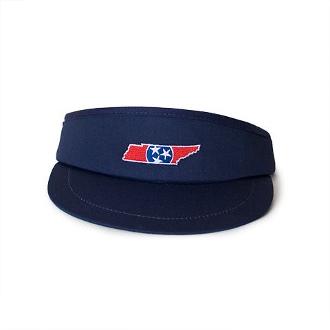 Tennessee Traditional Golf Visor Navy