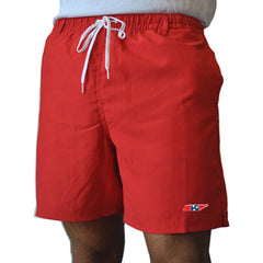 State Traditions Tennessee Traditional Red Swim Trunks Front View