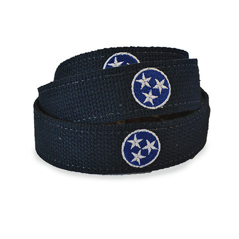 Tennessee TriStar Traditional Embroidered Belt Navy