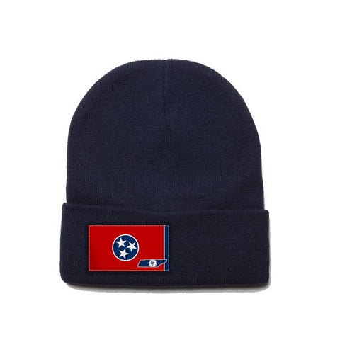 Navy Beanie with Tennessee Flag Patch by State Traditions