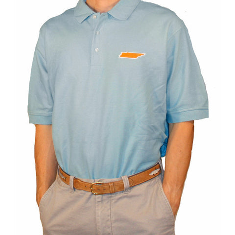 Tennessee Knoxville Gameday Polo Light Blue