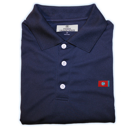 Tennessee Flag Performance Polo Navy