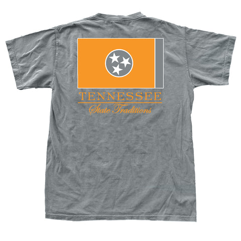 Tennessee State Flag T-Shirt Orange / Grey