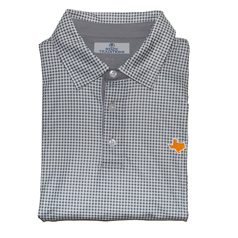 Texas Austin Gameday Gingham Polo Grey