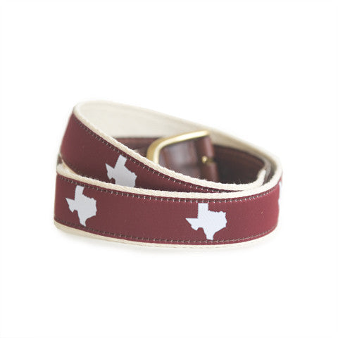 Texas College Station Gameday Belt Maroon