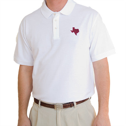 Texas College Station Gameday Polo White