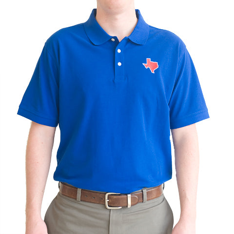 Texas Dallas Gameday Polo Blue
