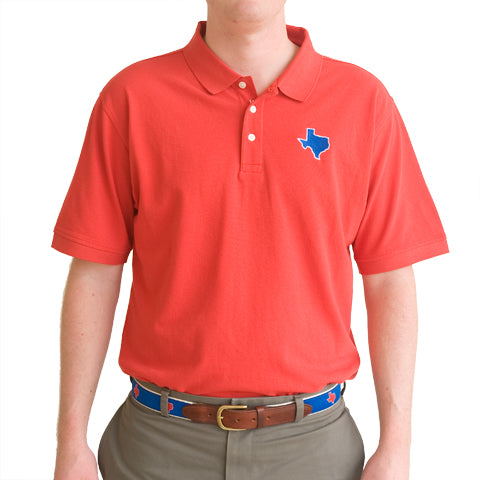 Texas Dallas Gameday Polo Red