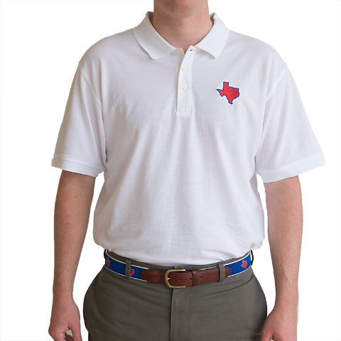 Texas Dallas Gameday Polo White