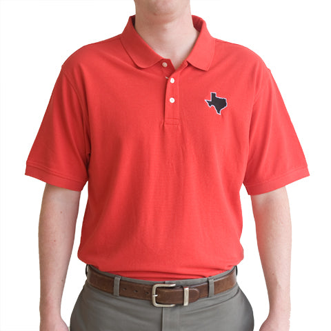 Texas Lubbock Gameday Polo Red