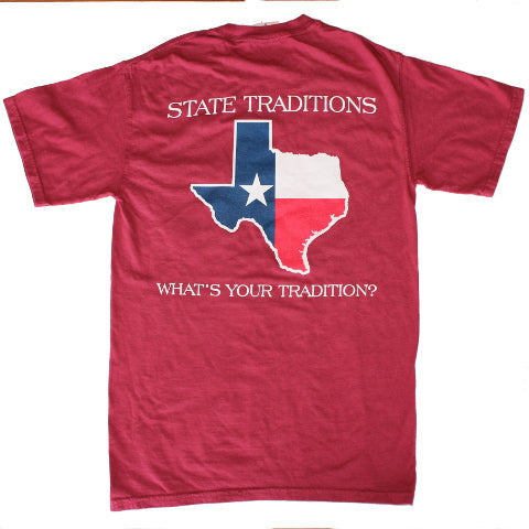 Texas Traditional T-Shirt Maroon
