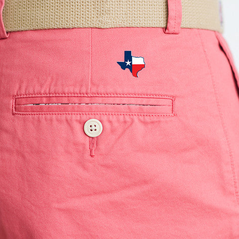 Texas Traditional Coastline Shorts Red
