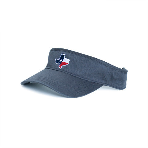 Texas Traditional Hat Visor Grey
