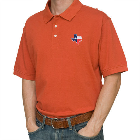 Texas Traditional Polo Burnt Orange