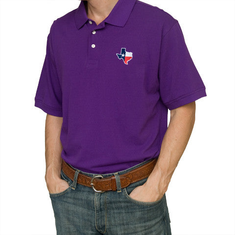 Texas Traditional Polo Purple