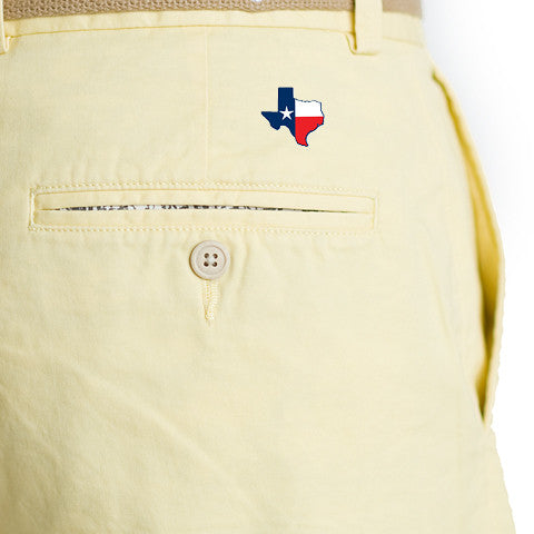 Texas Traditional Coastline Shorts Yellow