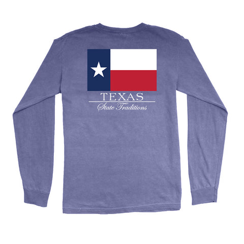 Texas State Flag Long Sleeve T-Shirt