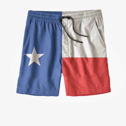 Texas State Flag Swim Trunks