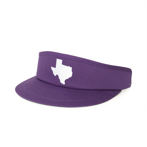 Texas Fort Worth Gameday Golf Visor Purple
