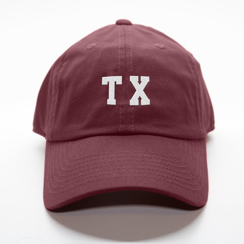 "Maroon Texas ""TX"" Gameday Hat"