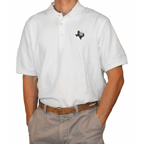 Texas Bonny Blue Polo White