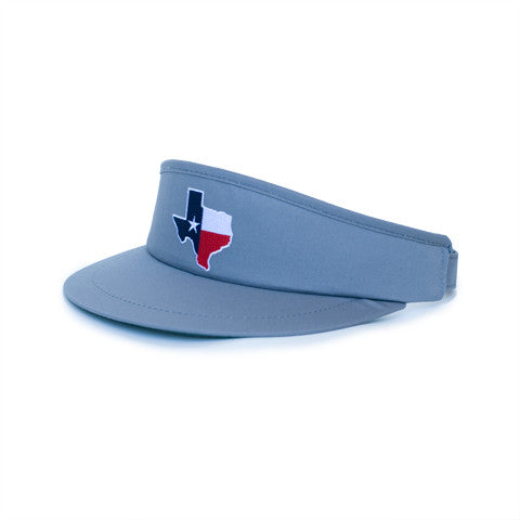 Texas Traditional Golf Visor Grey