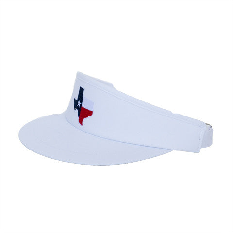 Texas Traditional Golf Visor White