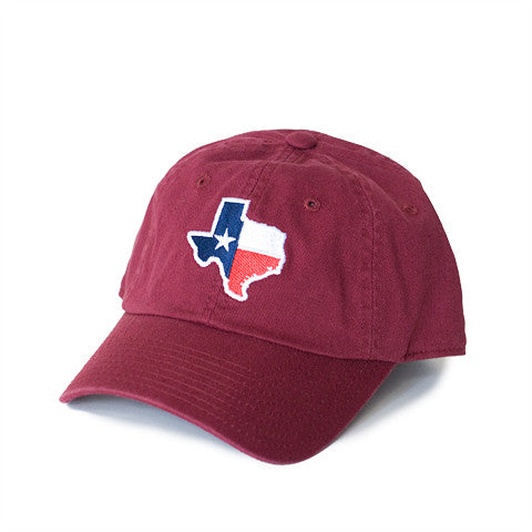 Texas Traditional Hat Maroon