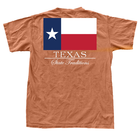 Texas State Flag T-Shirt Burnt Orange