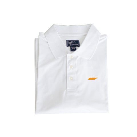 Tennessee Knoxville Clubhouse Performance Polo White