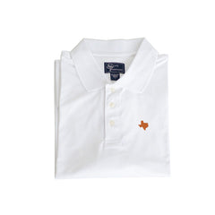 Texas Austin Clubhouse Performance Polo White