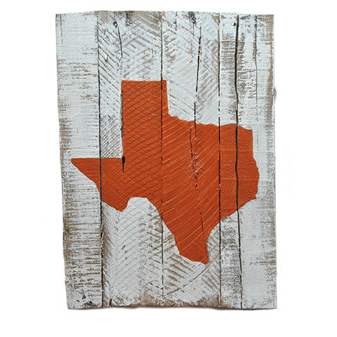 Texas Austin Gameday Reclaimed Wooden Pallet Art Painted