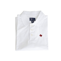 Texas College Station Clubhouse Performance Polo White