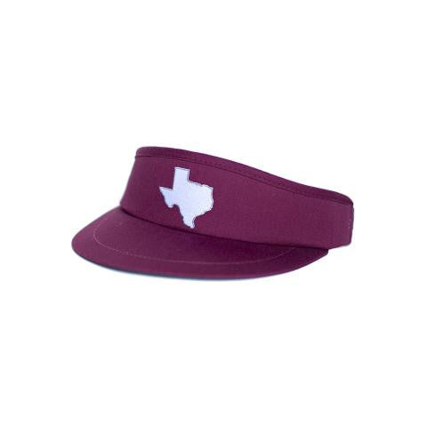 Texas College Station Gameday Golf Visor Maroon