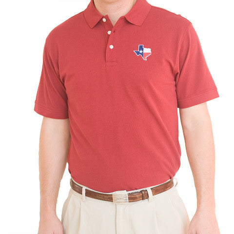 Texas Traditional Polo Maroon
