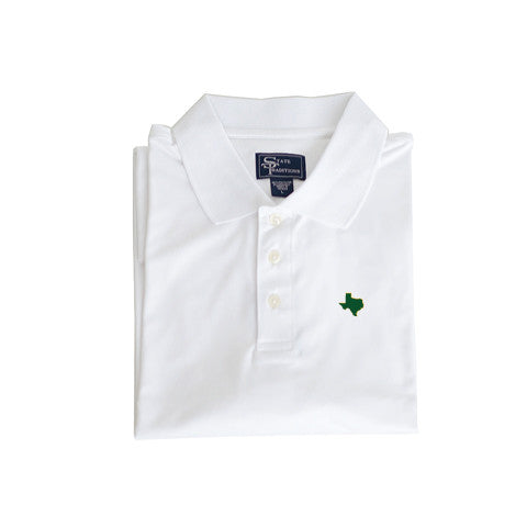 Texas Waco Clubhouse Performance Polo White