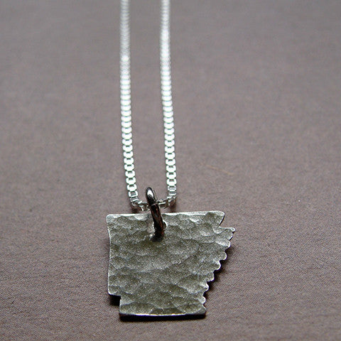 Arkansas Sterling State Necklace