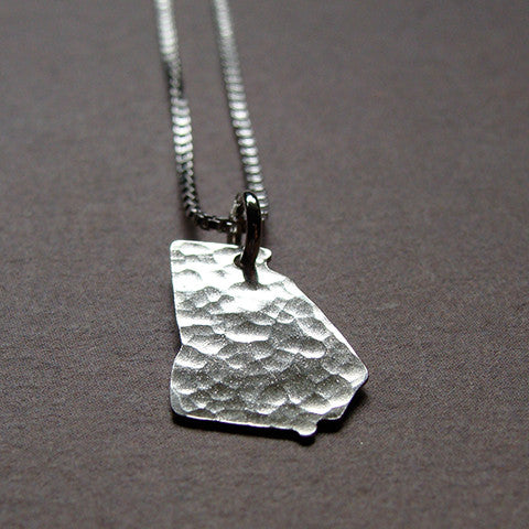 Georgia Sterling State Necklace